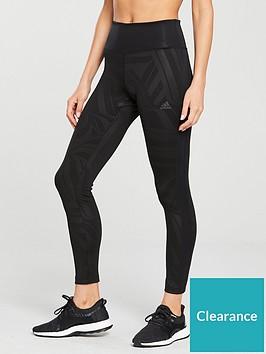 adidas-d2m-high-rise-print-tight-black