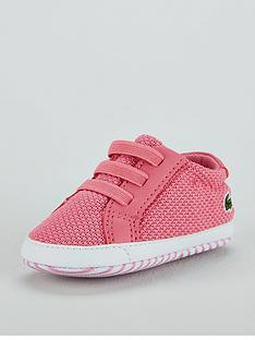 62466810d9482f Lacoste Baby Girls Crib 318 Shoe