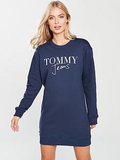 tommy-jeans-logo-sweatshirt-dress-blue