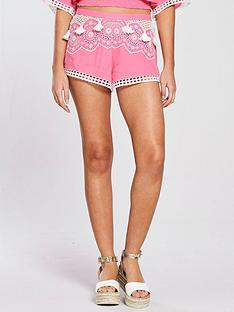 river-island-broderie-shorts-pink