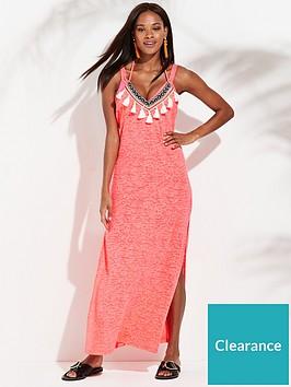 507fe0de995 River Island Jersey Maxi Dress- Pink   littlewoodsireland.ie