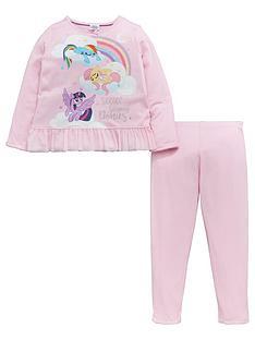 my-little-pony-girls-frill-pj-set-multi-coloured