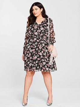 Curve Tea Dress Very by V Woven Printed Comfortable For Sale Free Shipping 2018 Unisex Perfect W3sf8
