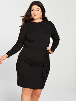 Cheap 100 Original Cheap Sale View Very  Jersey V Crepe Dress Black by Curve Pencil Clearance Shop For Cheap Sale Low Price Visa Payment Online vGFkII