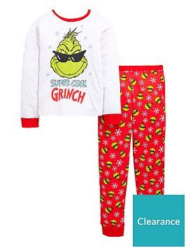 313b8de2bb77 The Grinch Christmas Grinch Boys Pyjamas Set - Multi Coloured ...