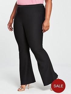 v-by-very-curve-kickflare-jersey-rib-trouser-black