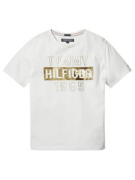 tommy-hilfiger-girls-foil-print-short-sleeve-t-shirt-white