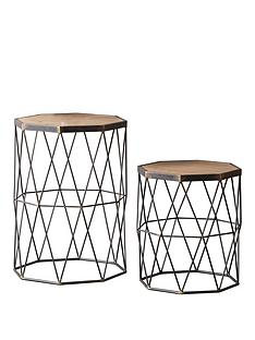 hudson-living-marshal-set-of-2-metal-and-solid-wood-side-tables