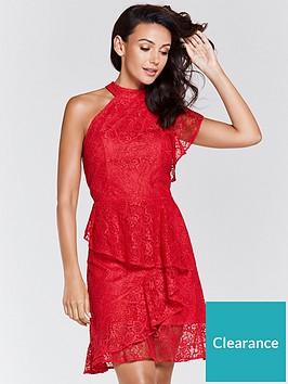 michelle-keegan-lace-one-shoulder-asymmetric-dress-rednbsp