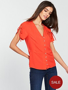 v-by-very-button-down-tea-blouse-coral