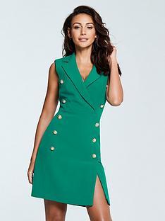 michelle-keegan-tux-dress-green