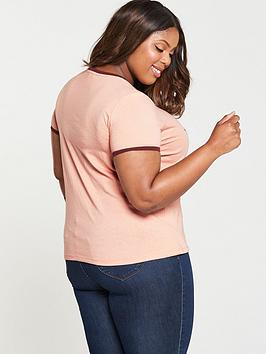 V LA shirt T Curve by Slogan Pink  Contrast Very Outlet Pay With Visa cCDvZEY