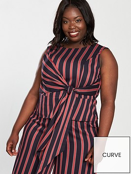 v-by-very-curve-knot-front-co-ord-blouse-stripe