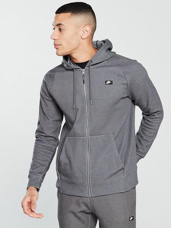 Nike Sportswear Optic Full Zip Hoodie Black, Black, Size