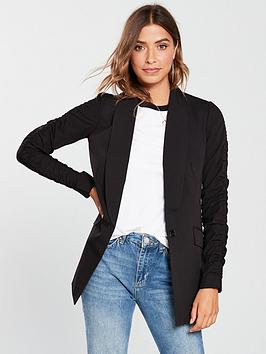 Ruched V Black Sleeve Jacket  by Very Cheap Sale Big Discount o3gJE4J6X6