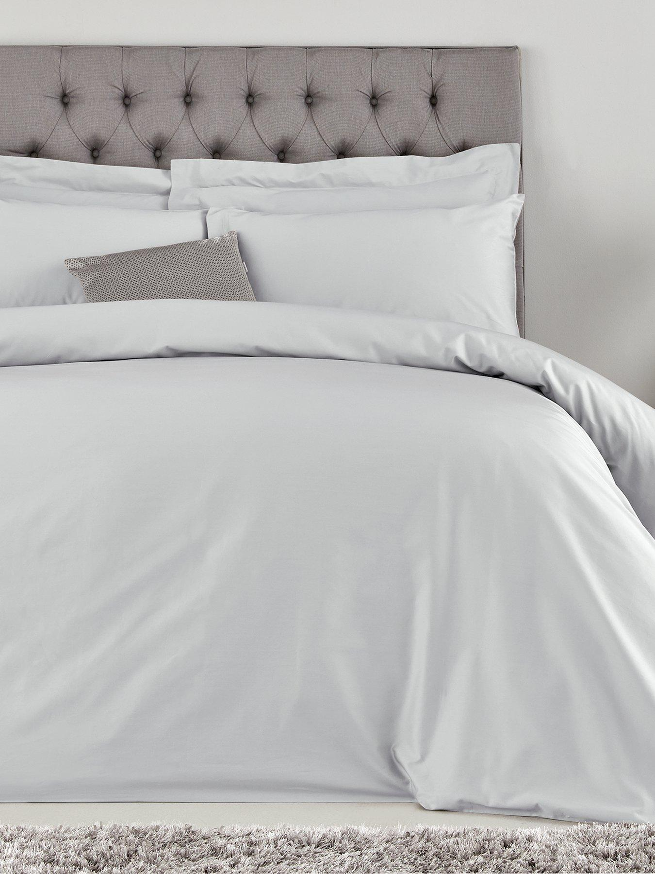 100/% Luxury Hotel Quality Cotton Duvet Cover Set White Cream 300 Thread Count
