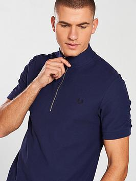 Shop Online Enjoy Sale Online Neck Fred Perry Funnel Polo Shirt khqwdnnJ