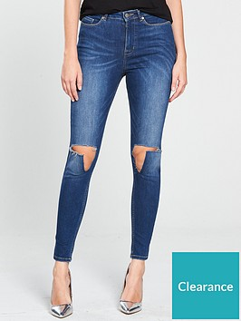 v-by-very-ella-high-waisted-busted-knee-skinny-jean-dark-wash