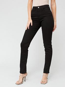 v-by-very-isabelle-high-rise-slim-leg-jeans-black