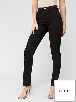 v-by-very-short-isabelle-high-rise-slim-leg-jean-black