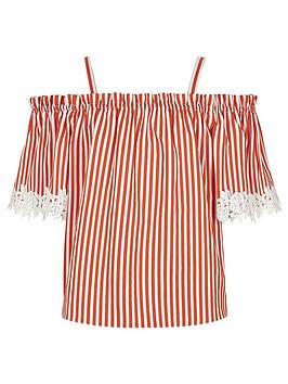 river-island-girls-stripe-lace-trim-bardot-top