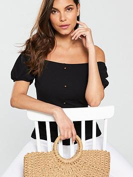 Very Button Top by Neck Notch Black V Detail Great Deals Cheap Sale 2018 New JEuELsEp