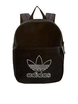 adidas Originals Girls Velvet Backpack - Black   littlewoodsireland.ie 6c64d2aaa0