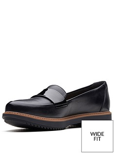 9d547d2c0e9 Clarks Clarks Raisie Arlie Wide Fit Loafer Black