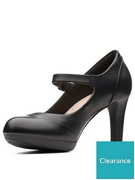 1dc64a7a187 Clarks Wide Fit Adriel Carla Heeled Mary Jane Shoe - Black ...