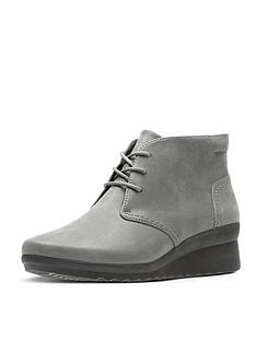 bed14fac9a4 Clarks Caddell Hop Low Wedge Ankle Boot - Grey