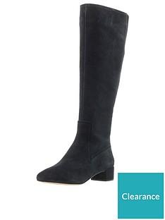 9d49e6c08d0c Clarks Orabella Ava Knee High Boot - Black Suede