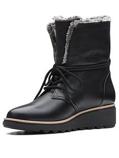 797dfe4428b Clarks Sharon Pearl Lace Up Calf Boot - Black