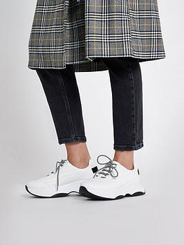 Lace Chunky River River 90s Trainers Island White Island Up Cheapest Online Genuine For Sale Cheap Sale Reliable Clearance Shopping Online Cheap Sale Real DGkGN