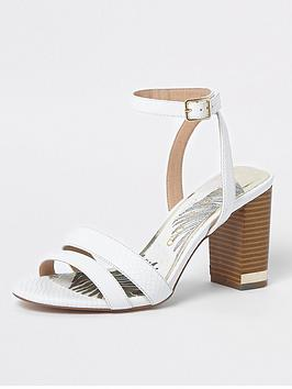 River Island Wide Fit Sandals - white