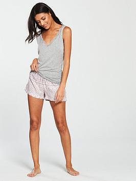 v-by-very-lace-trim-vest-and-paisley-short-pyjama-set