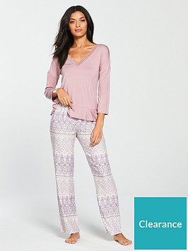 v-by-very-frill-hem-top-and-paisley-trouser-pyjama-set