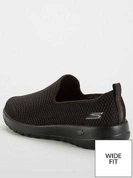 79ebe4a6288 Skechers Go Walk Joy Wide Fit Slip On Plimsoll Shoes - Black ...