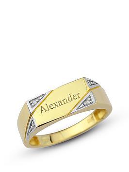 keepsafe-personalised-9-carat-yellow-gold-diamond-set-mens-ring