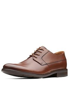 clarks-becken-standard-fit-plain-leather-lace-up-shoe--tan-leather