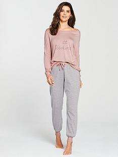 v-by-very-the-weekend-stripe-pyjama-set-pinkgrey