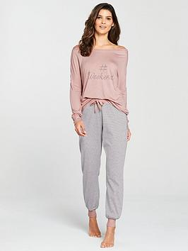 v-by-very-the-weekend-stripe-pyjama-set-pinkgrey