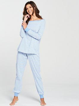 v-by-very-stripe-pyjama-set-blue