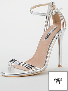 d59887b4620 Lost Ink Faye Wide Fit Barely There Sandal - Silver