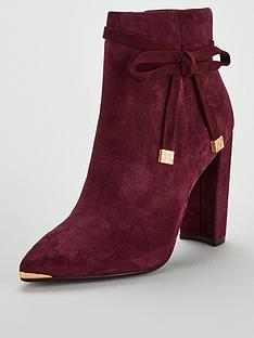 5e5934284 Ted Baker Qatena Suede Bow Ankle Boot