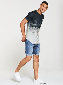 Silk Smoke Hem Sik Marl Tee Curved Outlet Find Great Cheap Low Shipping Fee Buy Cheap Low Cost Best For Sale Cheap Sale Real egBaqrHDd
