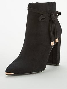 900c031bba2b8e Ted Baker Qatena Suede Bow Ankle Boot - Black