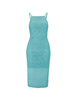 miss-selfridge-mint-lace-pencil-dress
