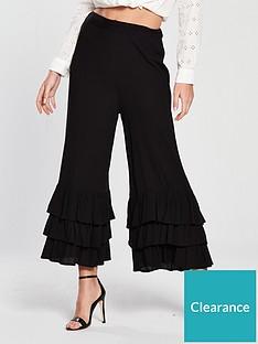 river-island-river-island-triple-frill-crop-wide-trouser-black