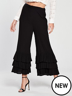 river-island-river-island-triple-frill-crop-wide-trouser-black