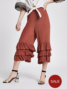 ri-petite-river-island-triple-frill-crop-wide-leg-trouser-red
